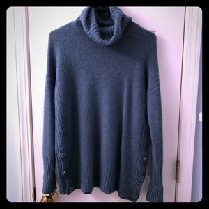 Blue Cowl Neck Tahari Sweater